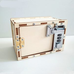Diy Wooden Creative Password Safe Box
