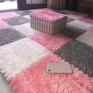 Puzzle Mat Long Hair Villi Shaggy Carpet Mat