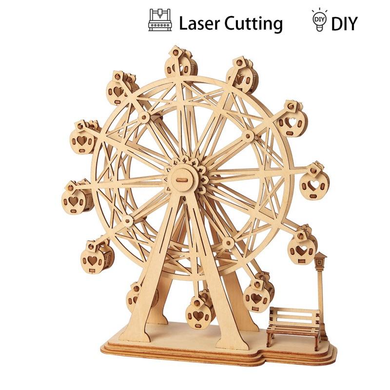 DIY Incredible 1pc Wood Project Ferris Wheel