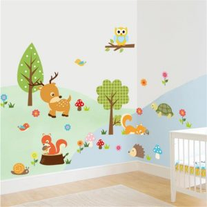 Cute Stickers Cartoon Animals for Children's Bedroom