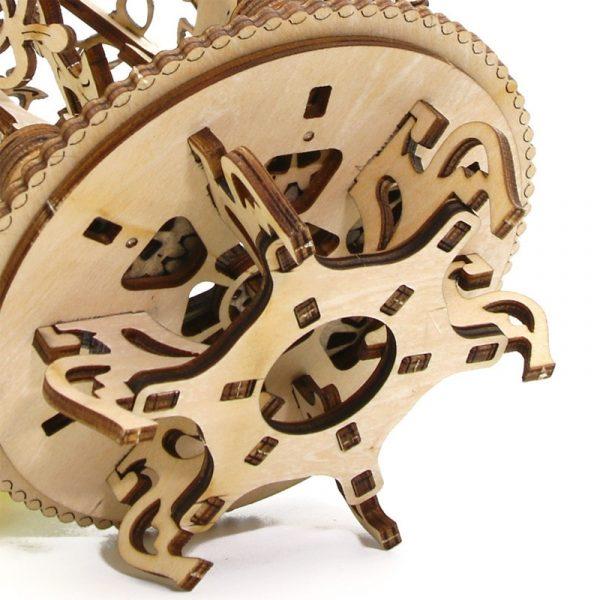 DIY Wooden Mechanical Transmission Woman Flower Gear Rotate Puzzle Ukraine UGEARS Model Valentine s Day Birthday 2