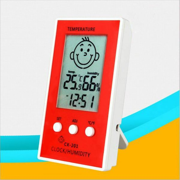 1pcs Precise Hygrometer Digital Clock Temperature Logger Humidity Meter Thermometre Higrometre Indoor Outdoor Thermometer