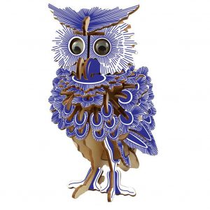 142pcs 3D Wooden Owl Puzzles Jigsaw DIY Hobbies Children Birthday Gift Toy Woodcraft Kids Kit Toy
