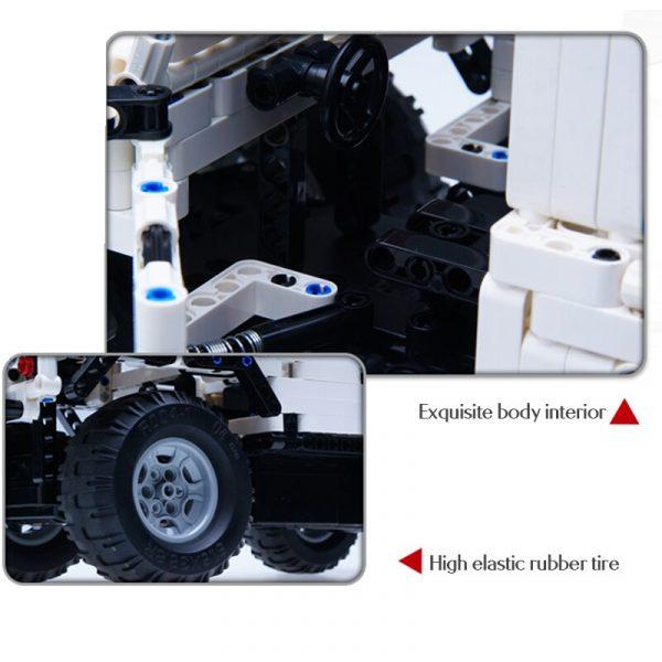 Cada 533Pcs Defender Remote Control Car Building Blocks For Legoingly Technic RC Car Model SUV City