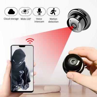 SDETER 1080P Wireless Mini WiFi Camera Home Security Camera IP CCTV Surveillance IR Night Vision Motion