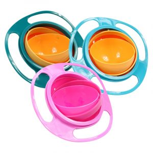 Universal Gyro Bowl Practical Design Children Rotary Balance Novelty Gyro Umbrella 360 Rotate Spill Proof Solid